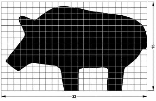 Schéma Silhouette Métallique Cochon - Pig Metallic Silhouette Schematic