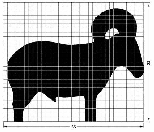 Schéma Silhouette Métallique Mouflon - Ram Metallic Silhouette Schematic